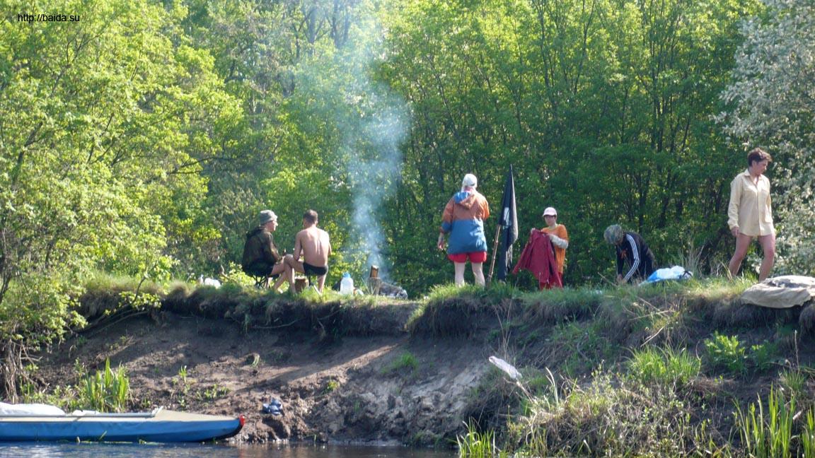 Наш лагерь с воды