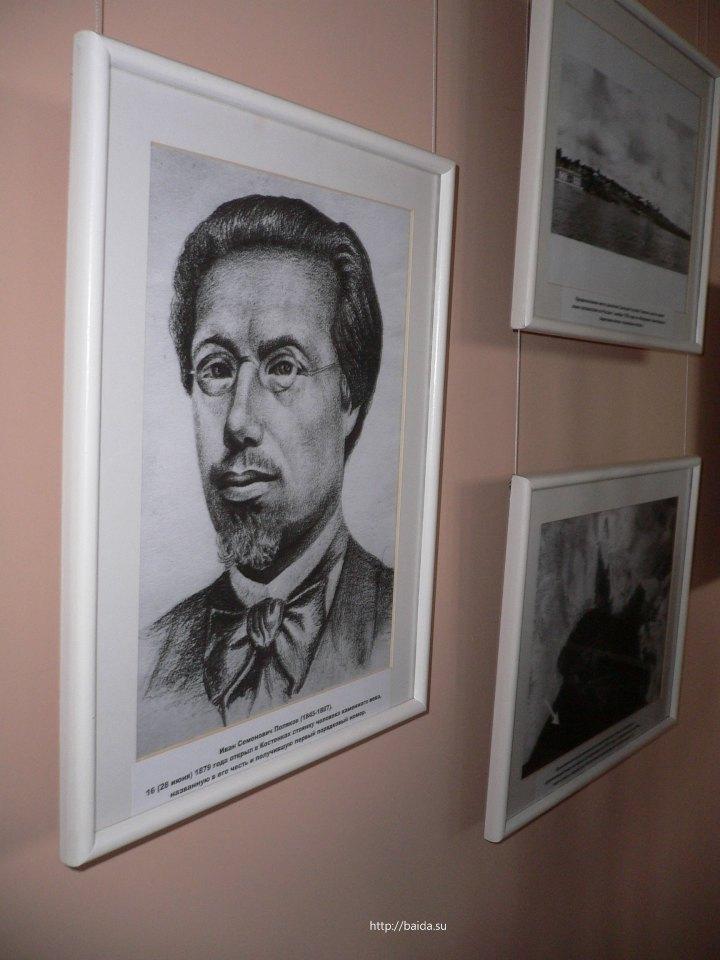 Фотографии на стене первого зала