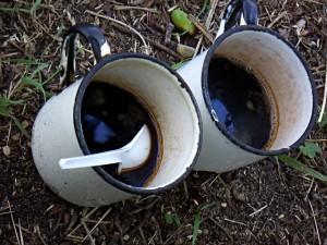 И кофе на природе бесподобный