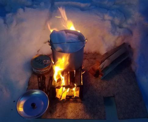 Печка-щепочница